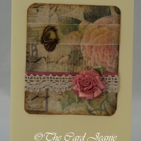 Handmade Card - Old Fashioned Roses No. 2