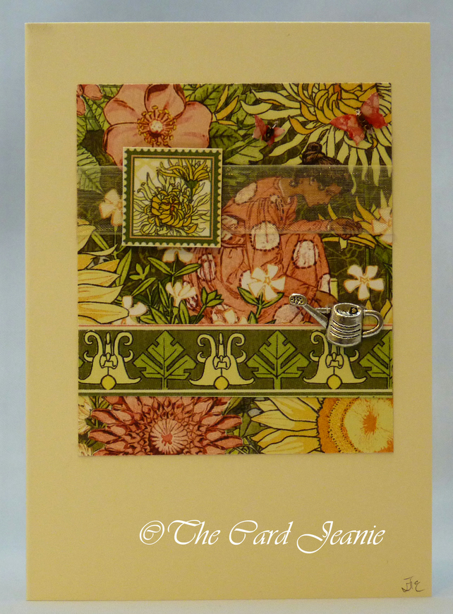 Handmade Card - Garden Goddess No. 2