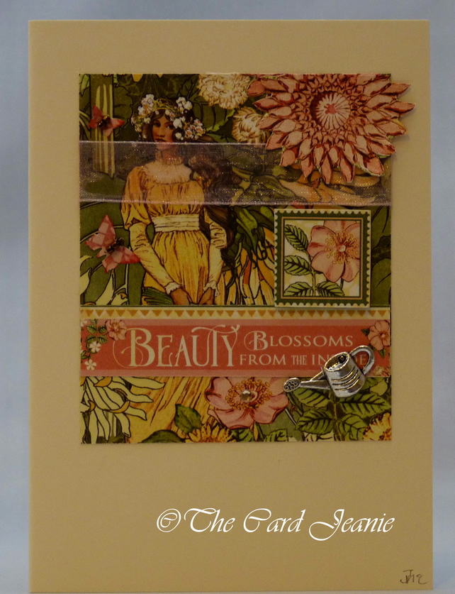 Handmade Card - Garden Goddess No. 4