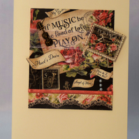 Handmade Card - Love of Music No. 1