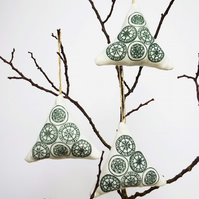 Folk Art Christmas Tree Decoration