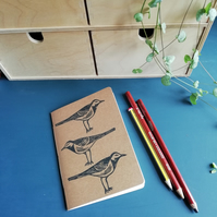 Pied Wagtail Handmade Notebook