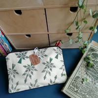 Green Leaf printed pencil case