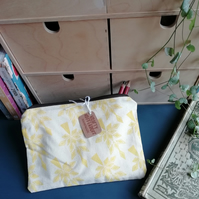 Yellow Leaf printed pencil case