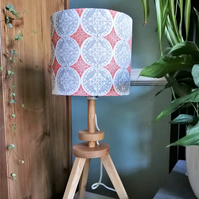 20cm Orange and Grey Patterned Drum Lampshade