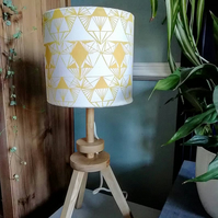 Art Deco Inspired Hand Printed Lampshade