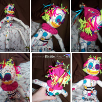 Handmade, Ziggy Clown (original character) Rag Doll