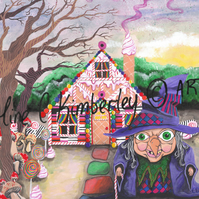 Hansel and Gretel inspired Original Acrylic Painting