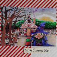 Hansel and Gretel inspired digital reproduction Print