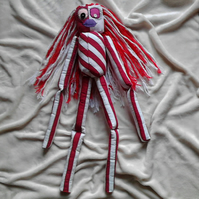 Candy Striped Girl Rag Doll, not a toy