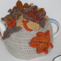 Autumn leaf tea cosy ready to ship