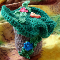 crochet jungle mushroom