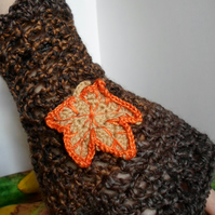 Womans crochet handwarmers for Autumn
