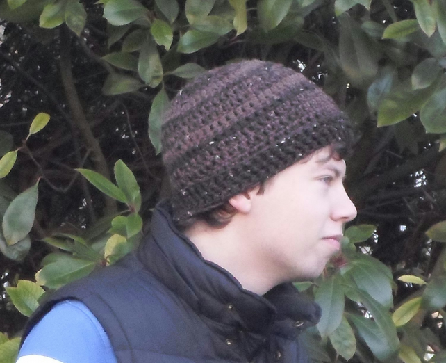 man's crochet hat