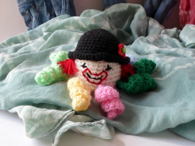 crochet clown octopus