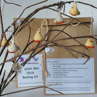 Kit to make mini bunting, hanging chicks or earrings.