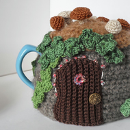 Crochet fairy door tea cosy