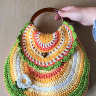 Spring bag, Summer bag, Free UK postage, Project bag, Bag with purse, Colourful