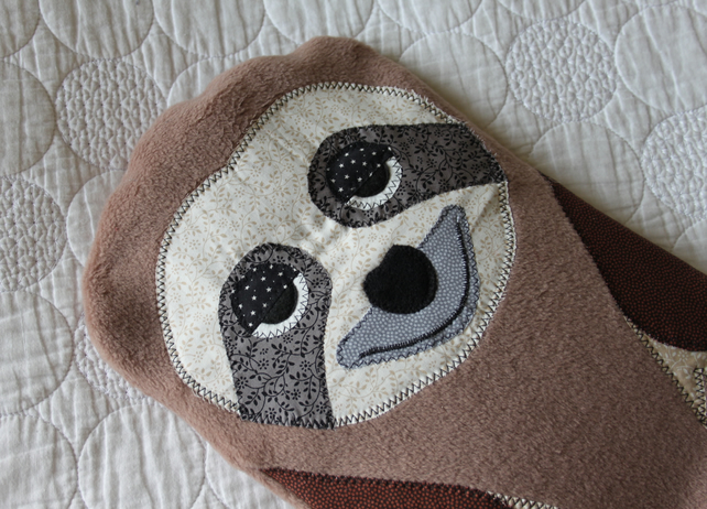 Hot water bottle cover cozy hottie animal -Sloth