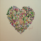 Flower Heart Freehand Machine Embroidery