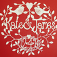 'Building A Nest' Personalised Wedding Hand-cut Papercut