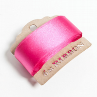 Fuschia Satin Ribbon Bobbin