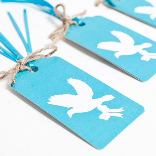 Love Birds Aqua Gift Tags