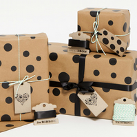 Recycled 'Espresso Dots' Gift Wrap