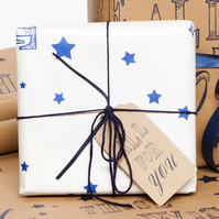 Recycled White 'These Wishes Are All For You' Gift Wrap