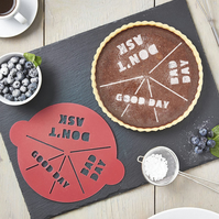Personalised Good Day Bad Day Cake Stencil