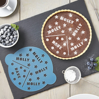 Personalised Couples Cake Stencil