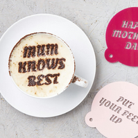 Personalised Mothers Day Coffee Stencil