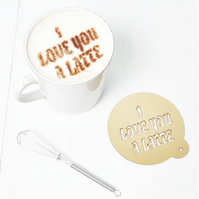 Personalised Message Coffee Stencil