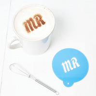 Personalised Coffee Stencil For Him
