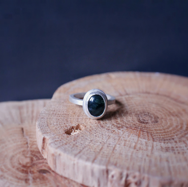 The Moss Ring - Sterling Silver and Moss Agate