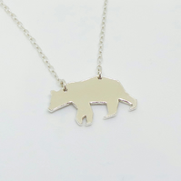 Sterling Silver Bear Necklace