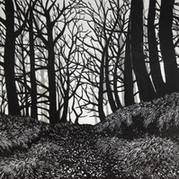 Into the Woods original handmade print