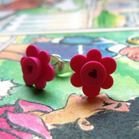 Love Lego flower stud earrings