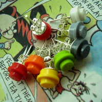 "Lego Round Stud Earrings ""bLoCk PaRtY bRiGhTs"""