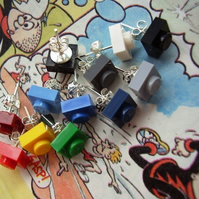 Lego Square Opaque Stud Earrings