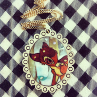 Vintage Bambi book necklace - one of a kind!