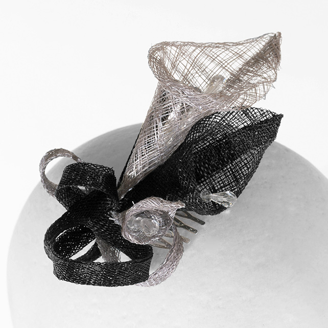 """Arum"".....Sinamay Fascinator"