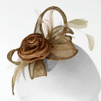 """Rose"".....Sinamay Fascinator"