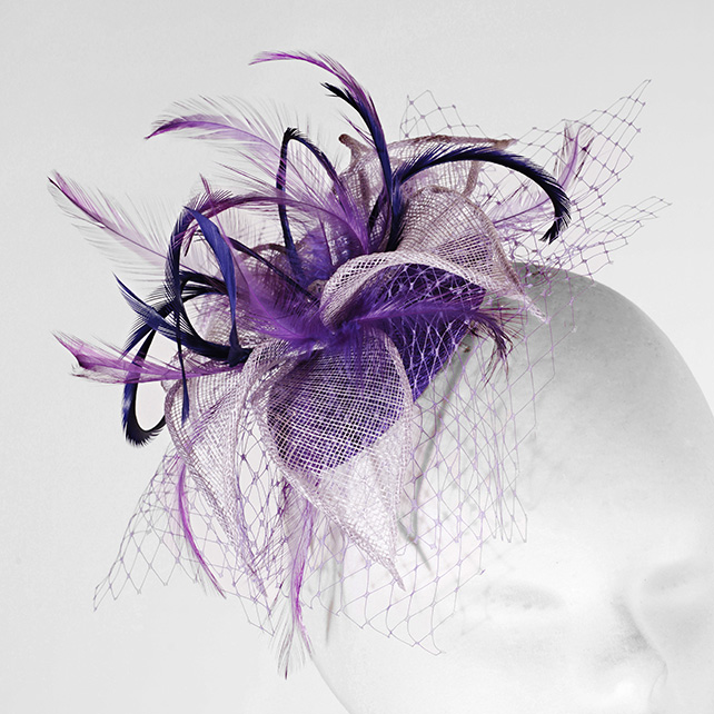 """Thistle"".....Sinamay Fascinator"