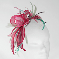 """Hyacinth"".....Sinamay Fascinator"