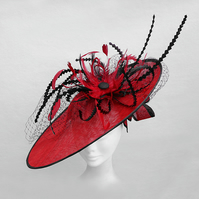 """Gloriosa"".....Sinamay Fascinator"