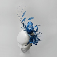 """Lupin"".....Sinamay Fascinator"