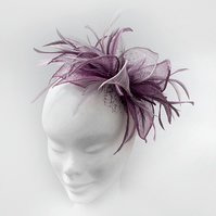 """Heather"".....Sinamay Fascinator"