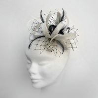 """Mimosa"".....Sinamay Fascinator"