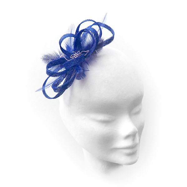 """Bluebell"".....Sinamay Fascinator"